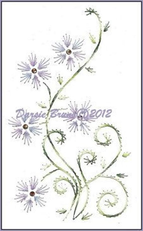 Primavera Floral Margarita vid patrón del bordado para | Etsy