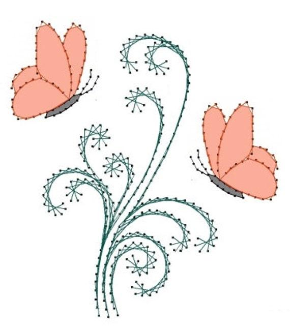 Turbulentas mariposas mariposa patrón del bordado para | Etsy