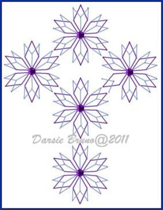 Cruz de cristal patrón de bordado de Navidad para tarjetas de | Etsy