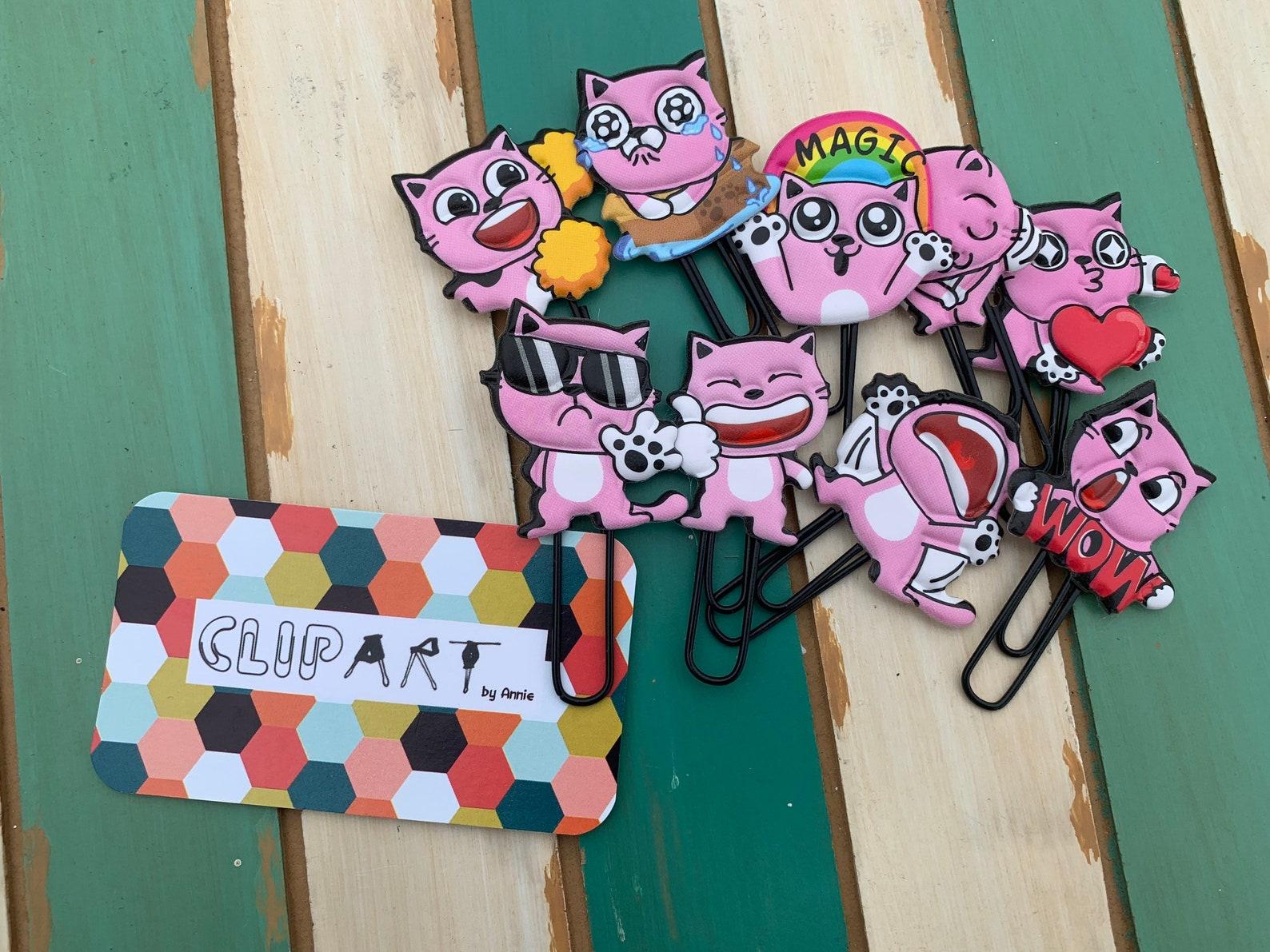 Cartoon Cat Paper Clips