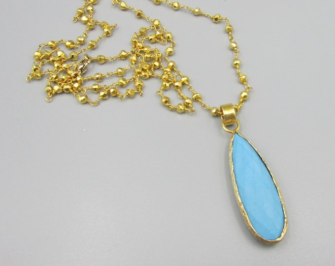 Turquoise Necklace | Gold Layering Necklace