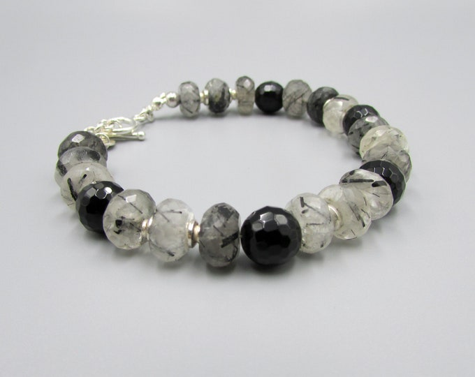 Quartz Crystal Bracelet Black