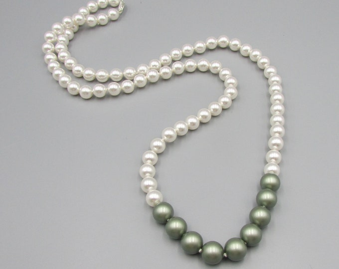 Classic Pearl Necklace | Hand Knotted Swarovski Pearl Necklace | Extra Long Pearls