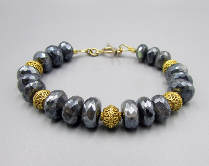 Mystic Labradorite Bracelet Gold