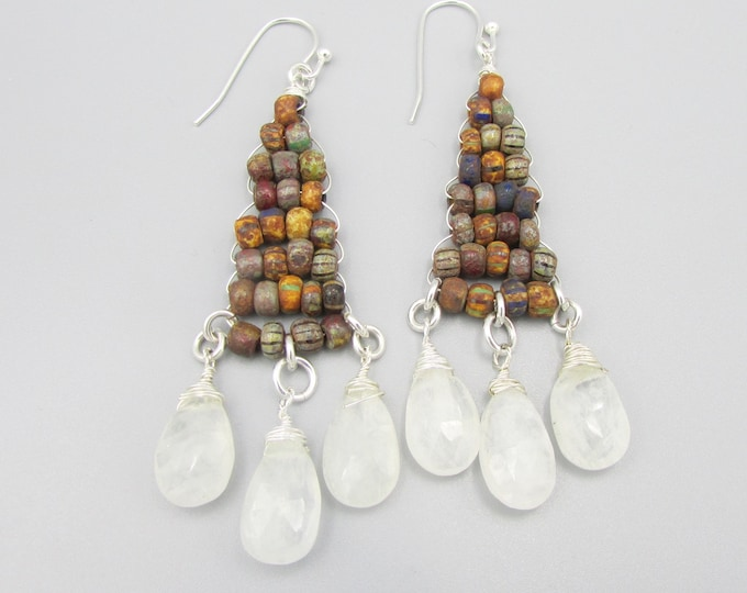 Moonstone Earrings | Boho Jewelry