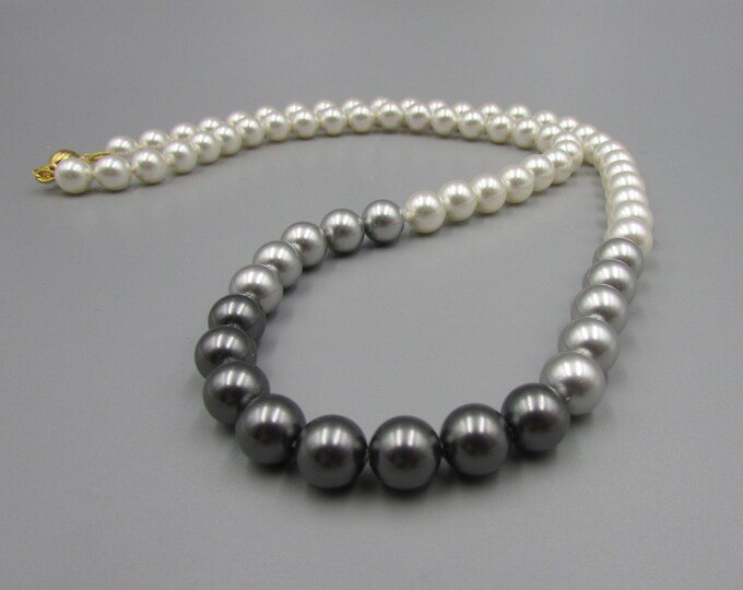 Classic Hand Knotted Pearl Necklace | Multi Colored Pearl Necklace | Statement Jewelry
