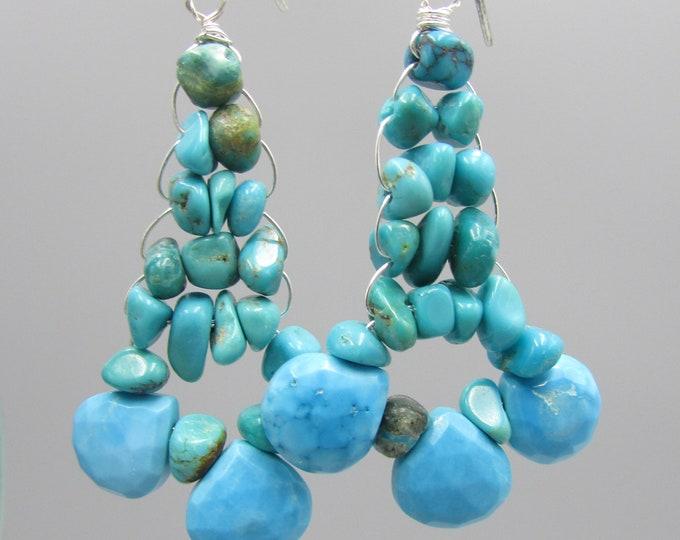 Turquoise Earrings | Statement Earrings