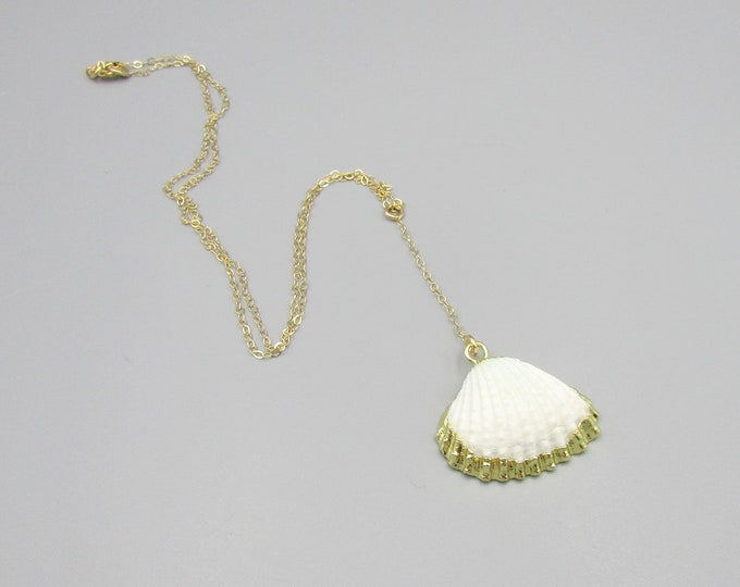 Sea Shell Necklace | Gold Filled Y-Necklace | Shell Drop Necklace