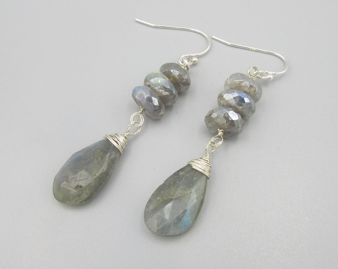 Labradorite Earrings | Long Earrings