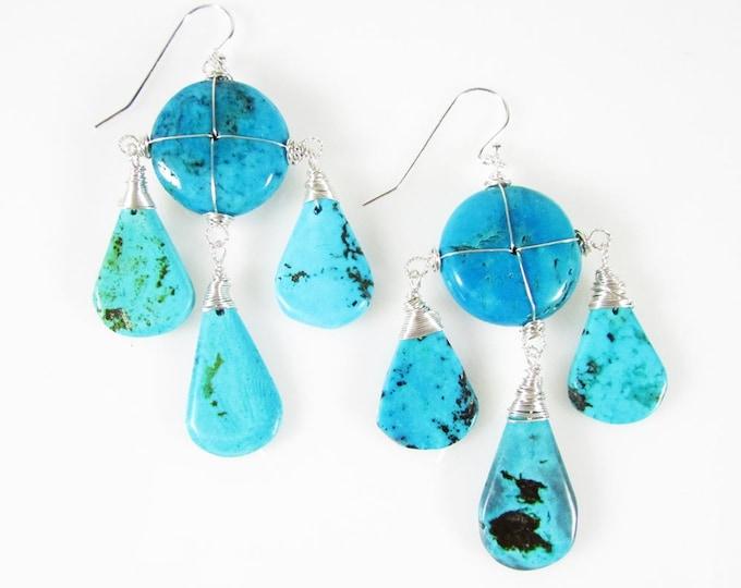 Turquoise Earrings | Statement Earrings | Big Earrings | December Birthstone