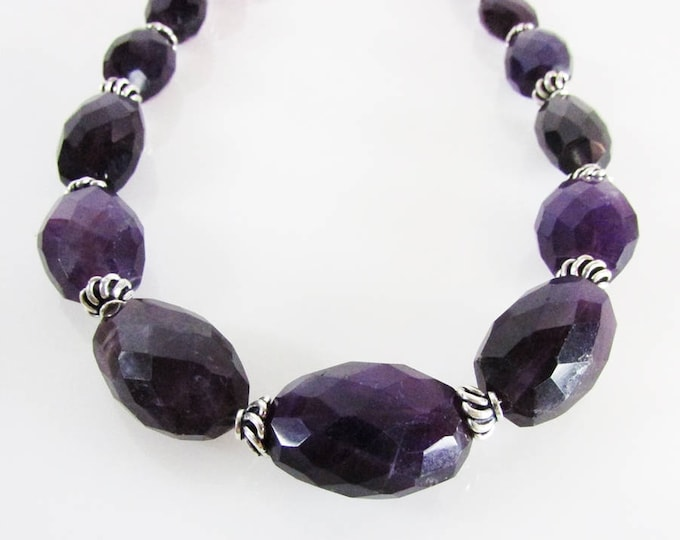 Amethyst Necklace | February Birthstone | Amethyst Choker