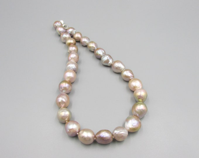 Baroque Pearl Choker Necklace | Hand Knotted Pearls