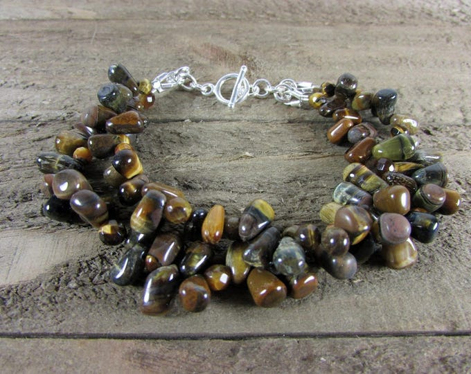 Golden Tiger Eye Bracelet | Gemstone Bracelets | Two Strand Bracelets