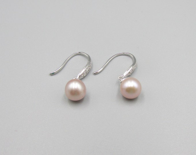 Pearl Earrings Sterling | Delicate Earrings