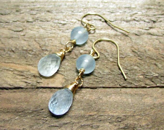 Aquamarine Earrings   Light Blue Earrings