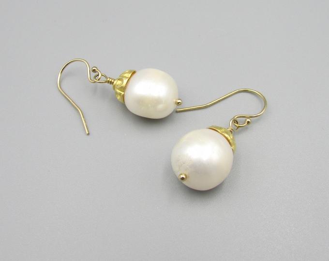White Pearl Drop Earrings | Wedding Earrings