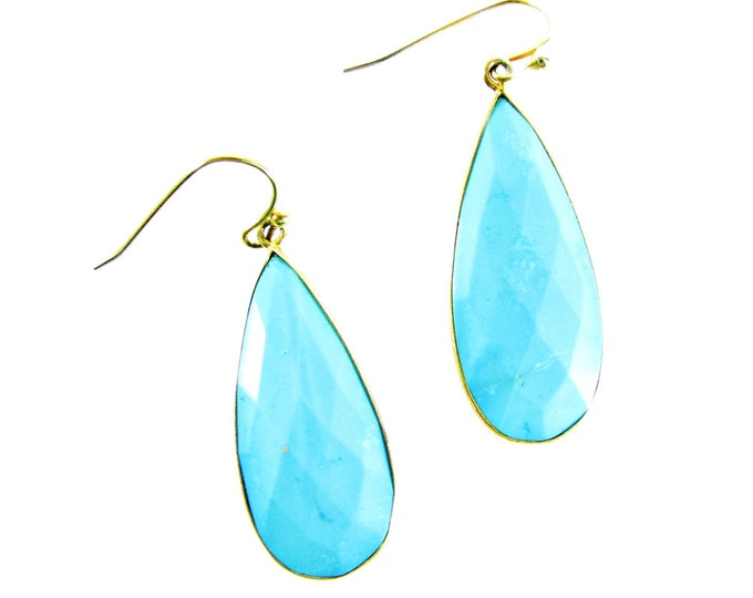 Light Blue Earrings | Turquoise Statement Earrings | Signature Jewelry