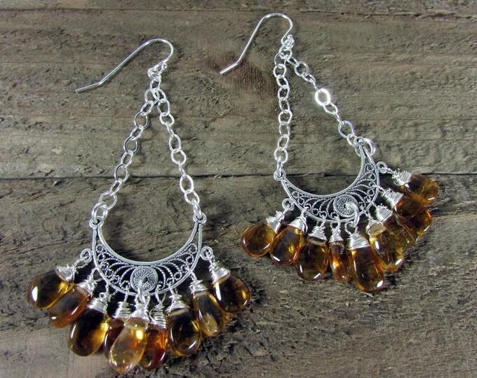 Citrine Earrings | Long Earrings