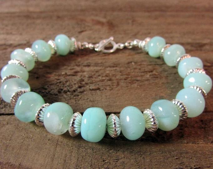 Pastel Blue & Sterling Silver Bracelet
