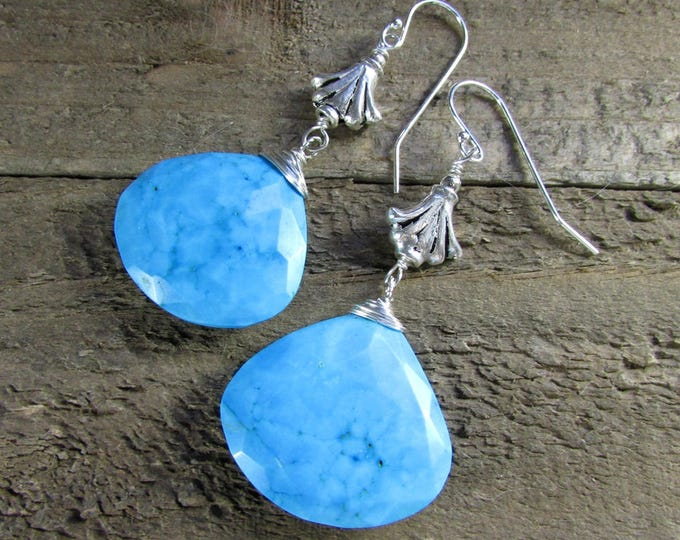 Turquoise Earrings | Sterling Turquoise Dangles