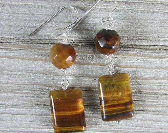 Tiger Eye Earrings | Gemstone Jewelry