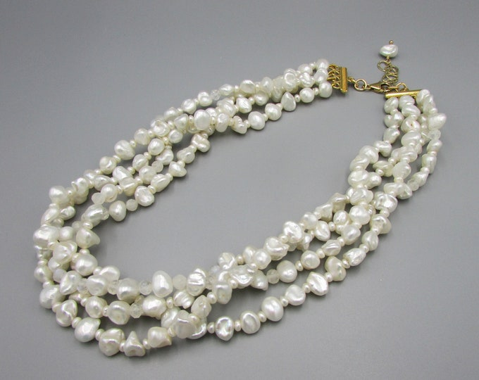 White Pearl Necklace Choker | Wedding Necklace