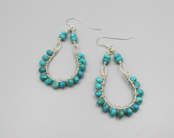 Turquoise Wire Wrapped Earrings | Bold Earrings