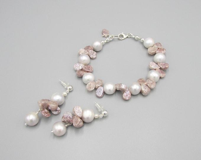 Pearl Bracelet & Earring Set
