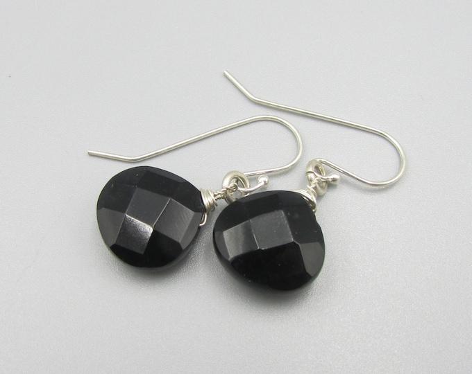 Black Onyx Teardrop Earrings | Simple Earrings