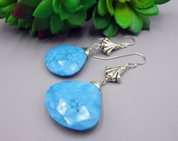 Turquoise Earrings | Statement Earrings