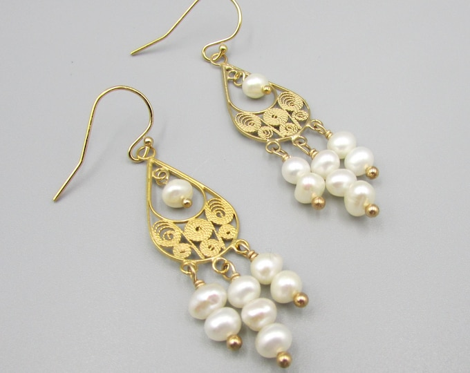 Long Pearl Earrings | Signature Earrings | June Birthstone