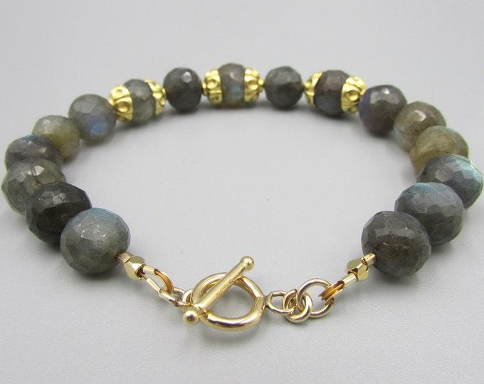 Labradorite Bracelets | Round Stone Bracelet | Bold Gemstone Bracelets | Signature Jewelry