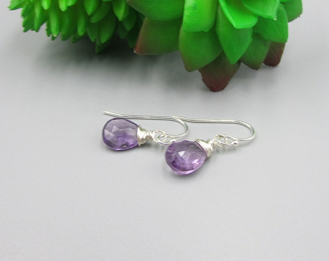 Amethyst Earrings | February Birthstone
