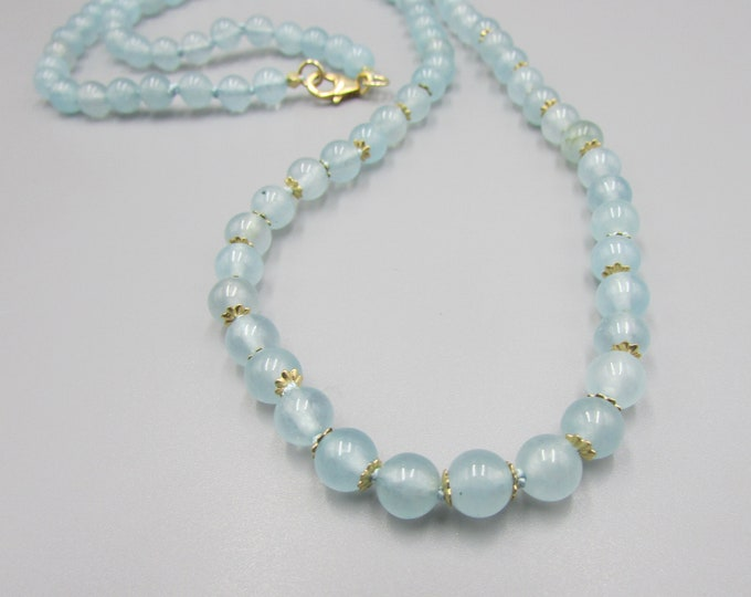 Aquamarine Necklace | March Birthstone