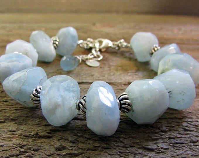 Aquamarine Bracelet | Bold Bracelets | Statement Bracelets | Large Stone Bracelets