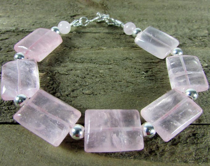 Rose Quartz Bracelet | Pink Bracelets | Mystic Jewelry | High Fashion Jewelry