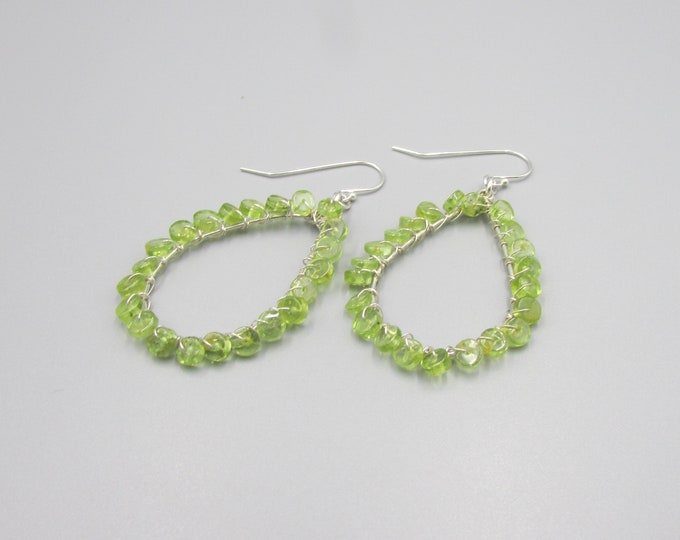 Peridot Earrings, August Birthstone Earrings, Peridot & Sterling Silver Earrings