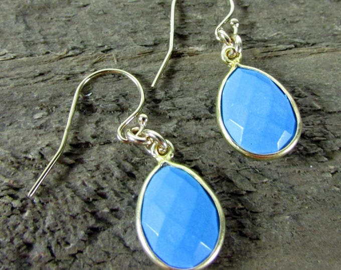 Turquoise Earring | Turquoise Delicate Dangle Teardrops | Simple Earrings