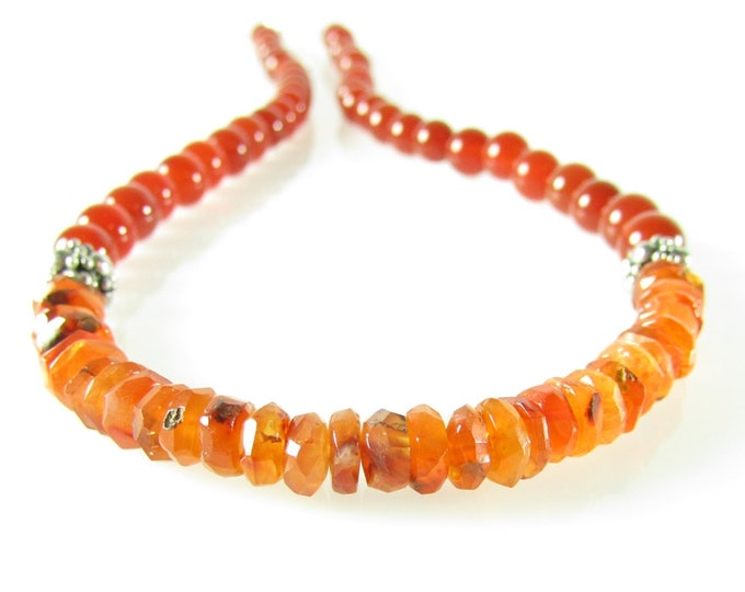 Carnelian Choker Necklace | Burnt Orange Necklace | Gemstone Choker | Healing Jewelry