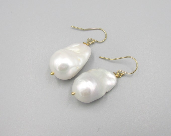 Pearl Earrings | Baroque Freshwater Pearl Dangles
