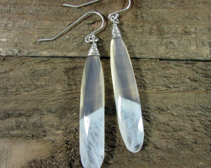 Solar Quartz Long Earrings | Signature Earrings | Statement Earrings