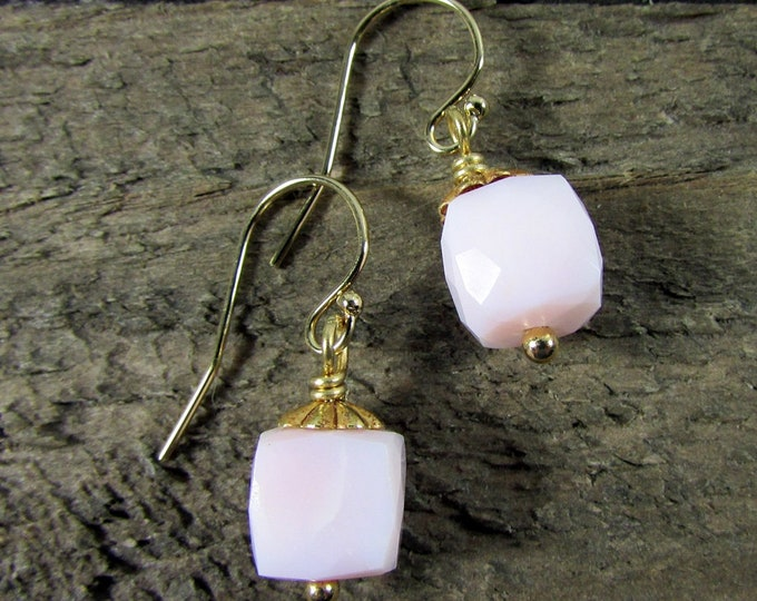 Pink Opal Earrings | Peru Opal Dangles | October Birthstone | Signature Style