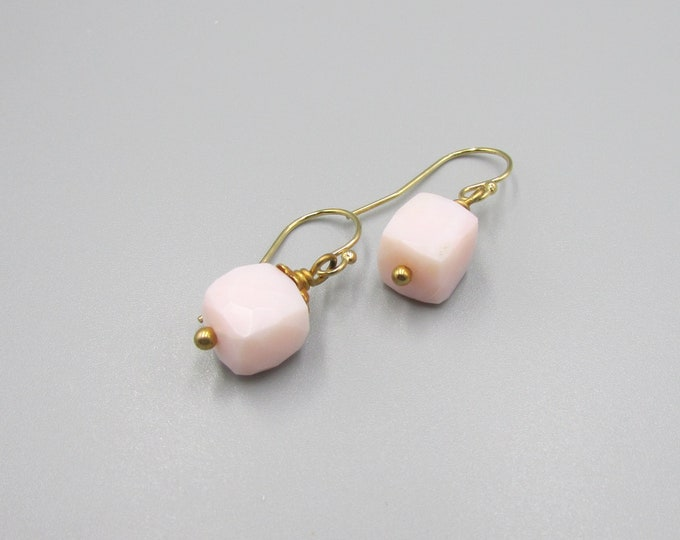 Pink Opal Earrings | Peru Opal Dangles