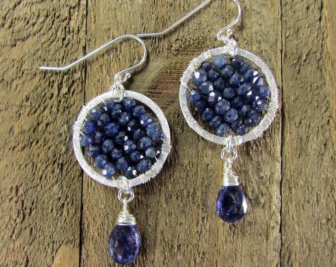 Iolite Earrings | Dark Blue Earrings | Gemstone Jewelry | Signature Earrings