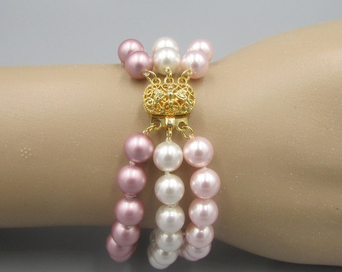 Pearl Bracelet | Hand Knotted | Multi Strand Pearl