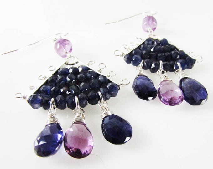 Iolite Earrings | Amethyst Earrings | Bold Earrings | Statement Jewelry