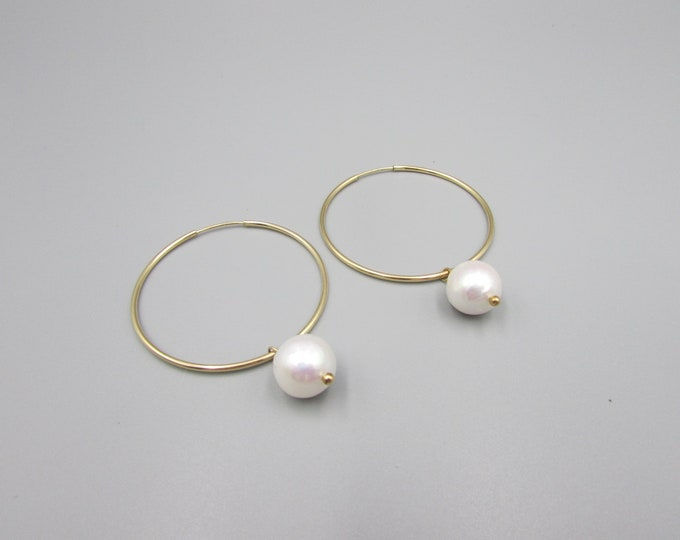 Big Gold Filled Hoop Earrings | Big Gold Hoops