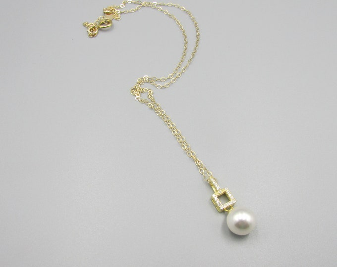 Simple Pearl Necklace | Layering Necklace