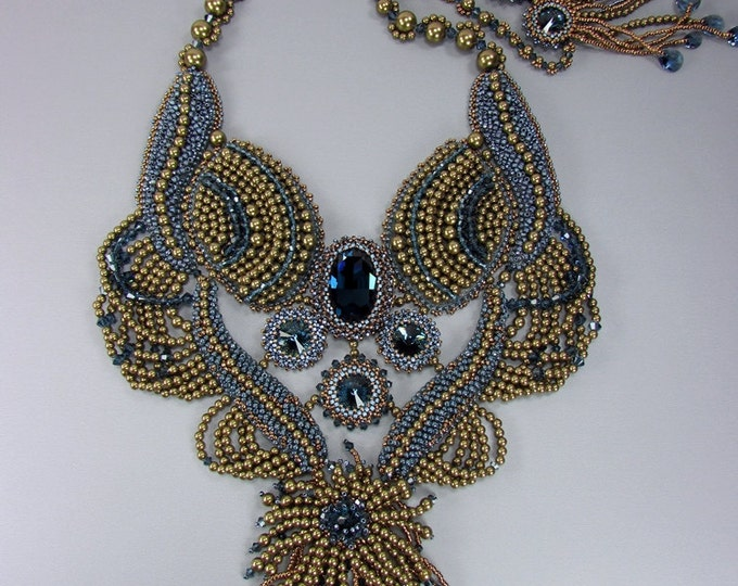 Bead Embroidery Pearl Necklace | Statement Necklaces | BOTB 2013