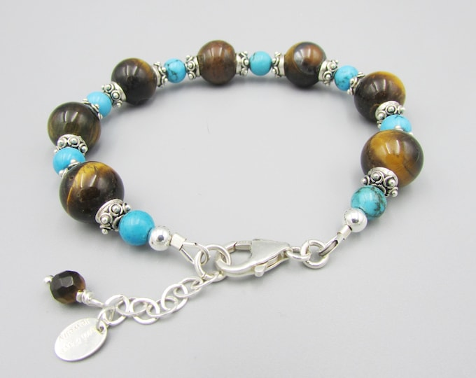 Tiger Eye Bracelet | Turquoise Bracelet| December Birthstone